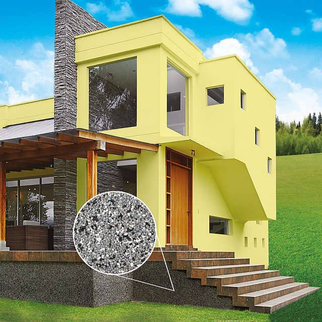 Мозаичная штукатурка - декоративная отделка фасада - Краски Alpina